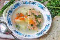 Суп из хребтов лосося