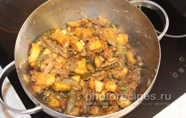 Азу по-татарски с картошкой пошаговый рецепт